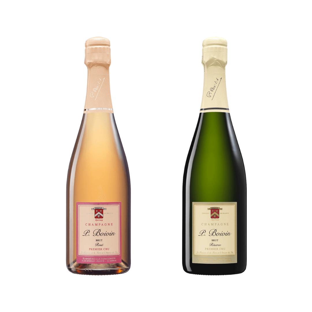 Two bottles of Patrick Boivin 1er Cru Champagne
