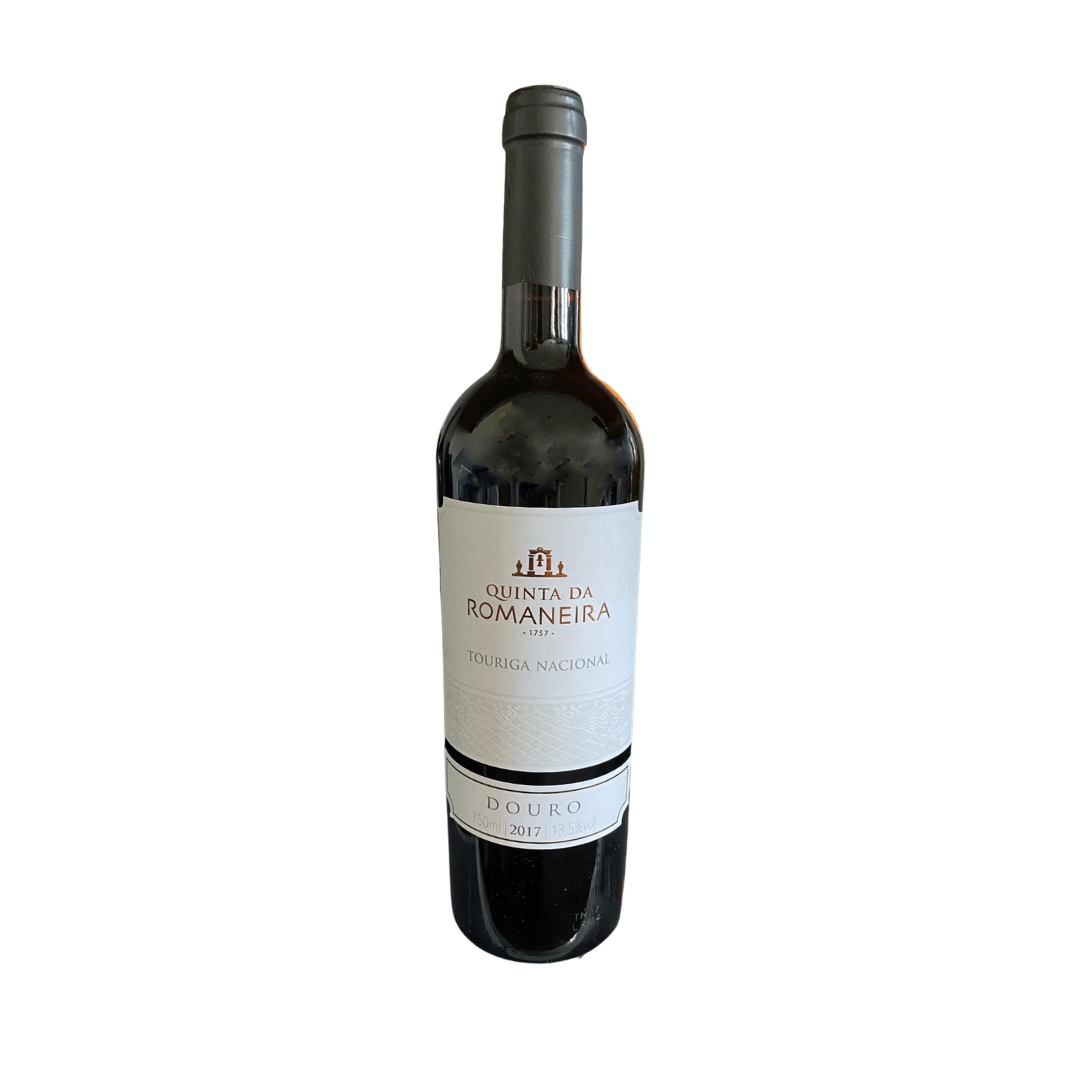 A bottle of Quinta da Romaneira sold by the Corky Winers of Maldon, Essex