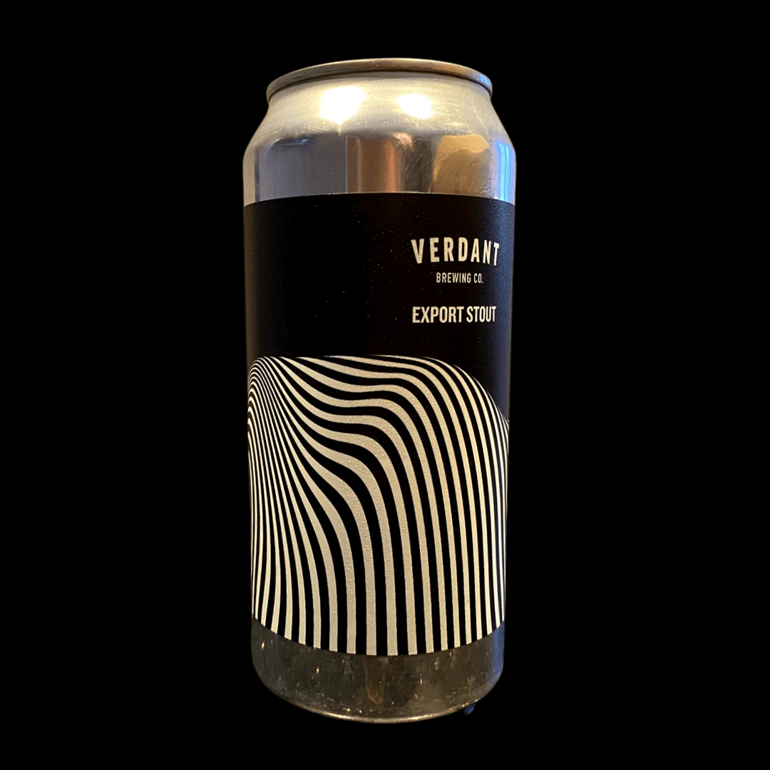 Verdant Export Stout sold by Corky Winers of Maldon in Essex.